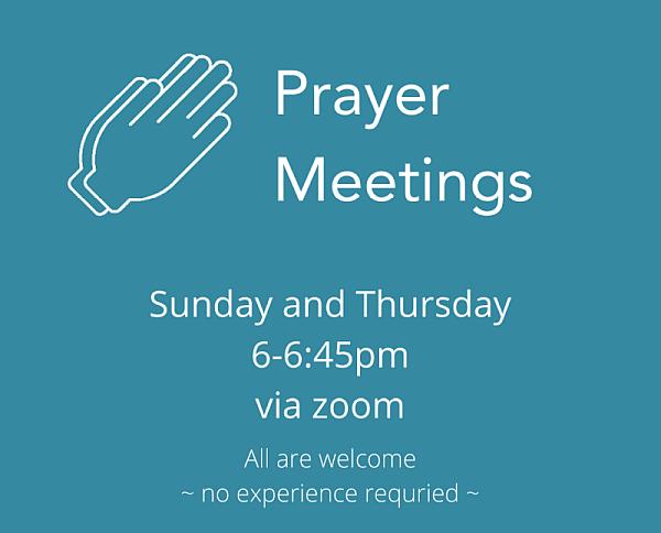 Prayer meetings web
